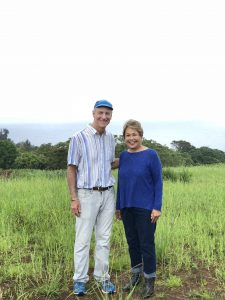 Senator Inouye Visiting Kuwili Lani Agrihood in Laupahoehoe, Hawaii
