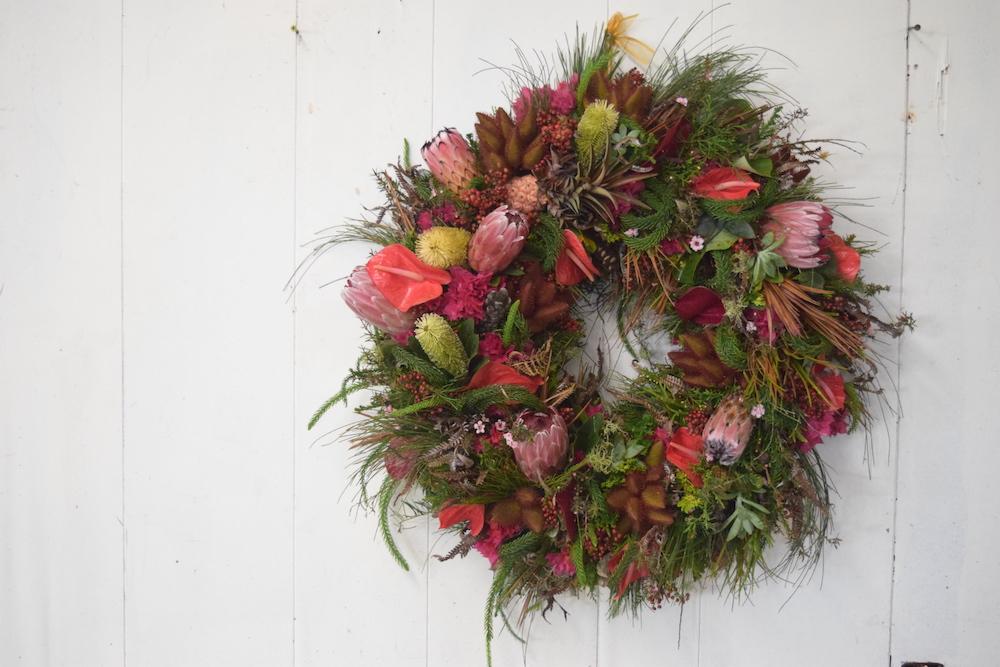 Hawaiian Christmas wreath